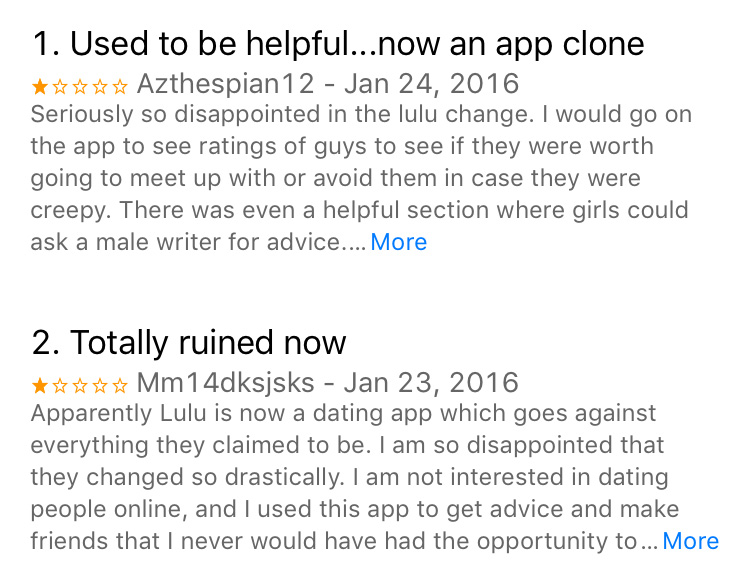 Dating app Lulu's controversial guy reviews are no more