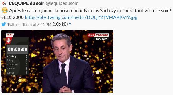 Nicolas Sarkozy président... d'un soir — Médias