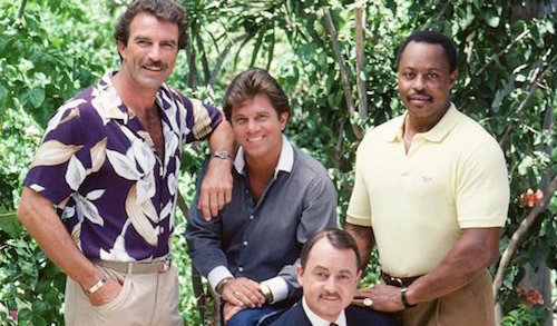 Was Tom Selleck Constantly Hiding An Erection On Magnum, P.I.?, tom selleck cast photo