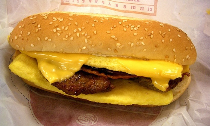 grossest things found in fast food, syringe in burger king breakfast sandwich