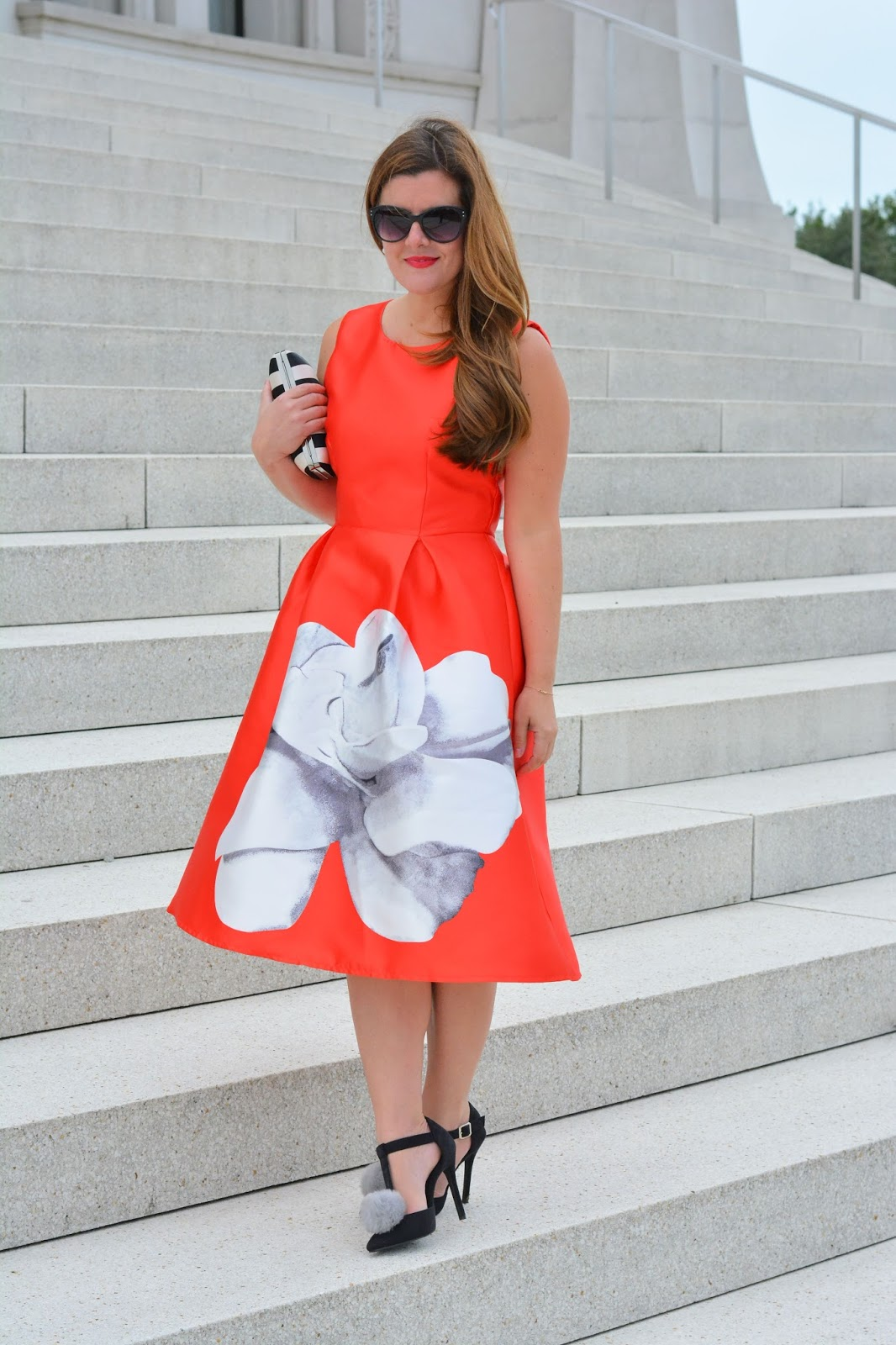 Street style tip of the day: Floral party dress