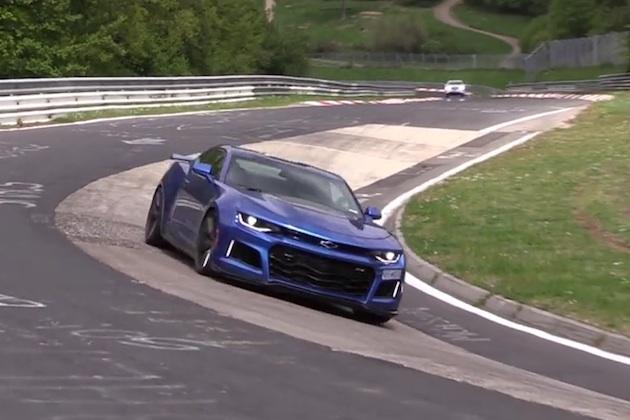 【ビデオ】シボレーの新型「カマロZL1」、ニュルブルクリンクで走行テスト中