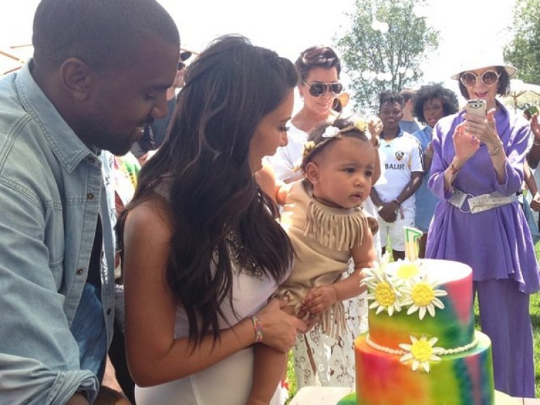 Baby North West's 1st birthday gift: Pierced ears!