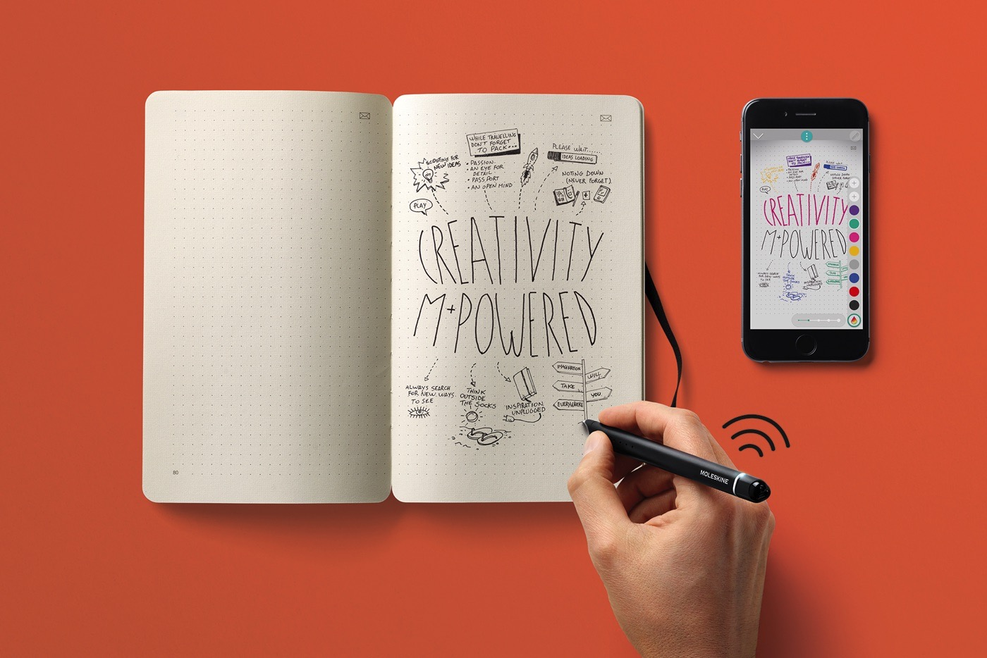 picture of Moleskine's latest pen and notebook instantly digitize scribbles