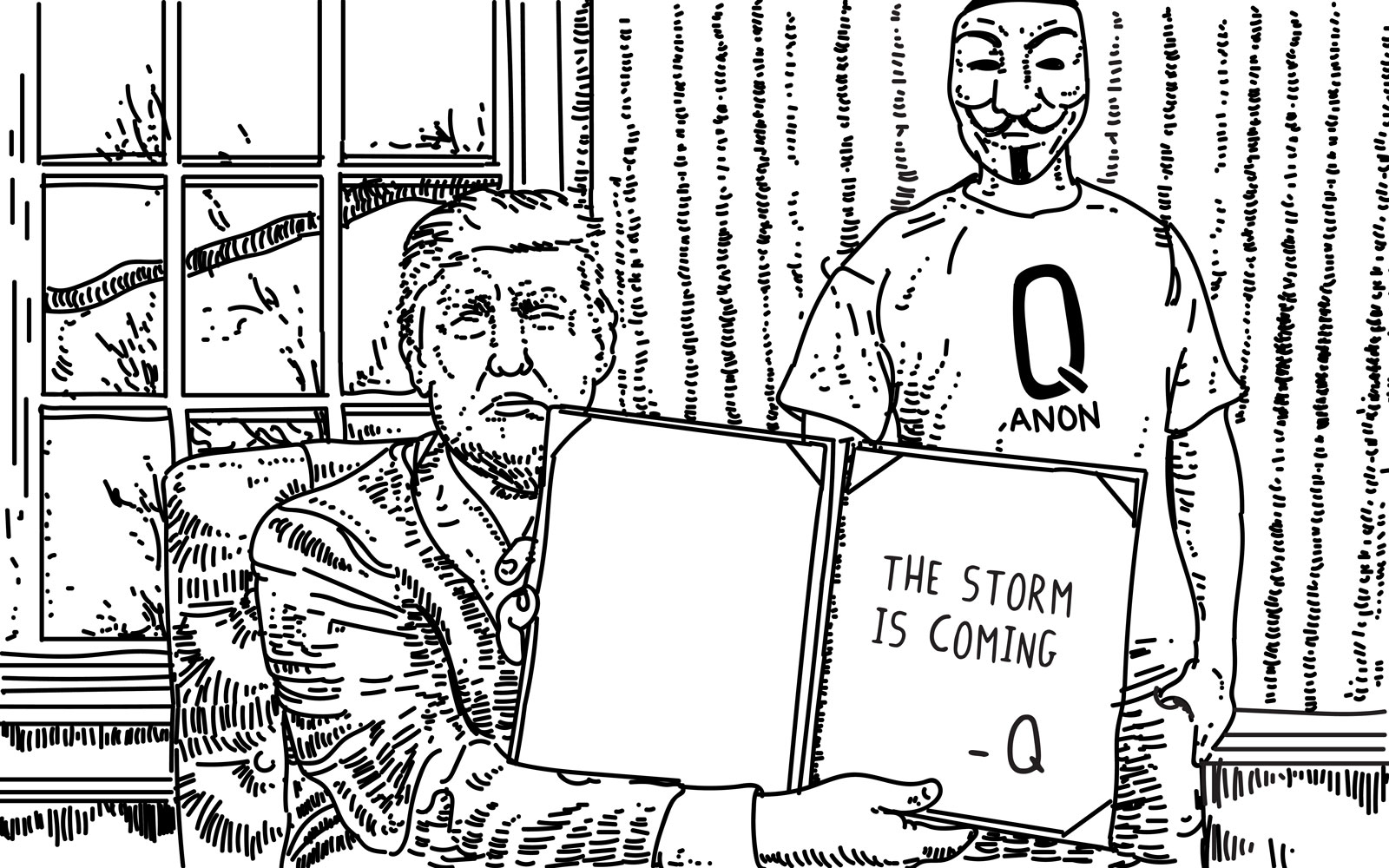photo image Anonymous deals with its QAnon branding problem