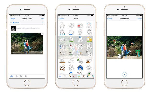 Oh boy: Facebook for mobile lets you add stickers to photos