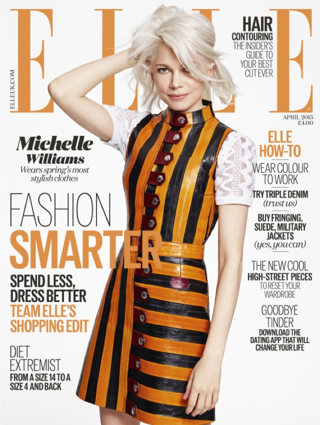 Michelle Williams wows on cover of Elle UK