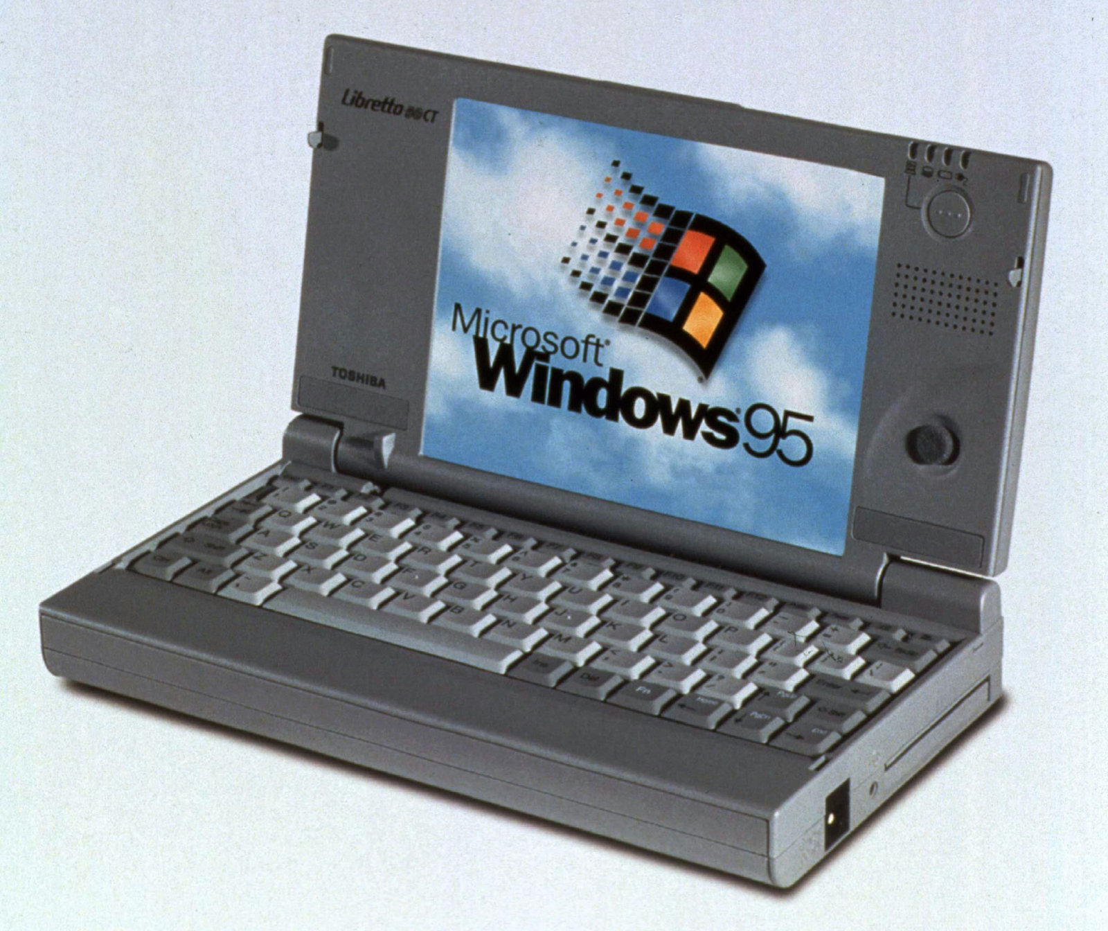 Toshiba's first mini-laptop, the Libretto 50CT was introduced at the Spring Comdex Show at the Georgia World Congress Center on June 2. The mini-notebook with a 75MHz Pentium processor, Windows 95 and a 810 million byte hard drive is expected to retail at $1,999.