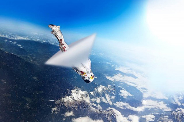 craziest stunts ever attempted, crazy stunts, insane stunts, felix baumgartner stratos jump