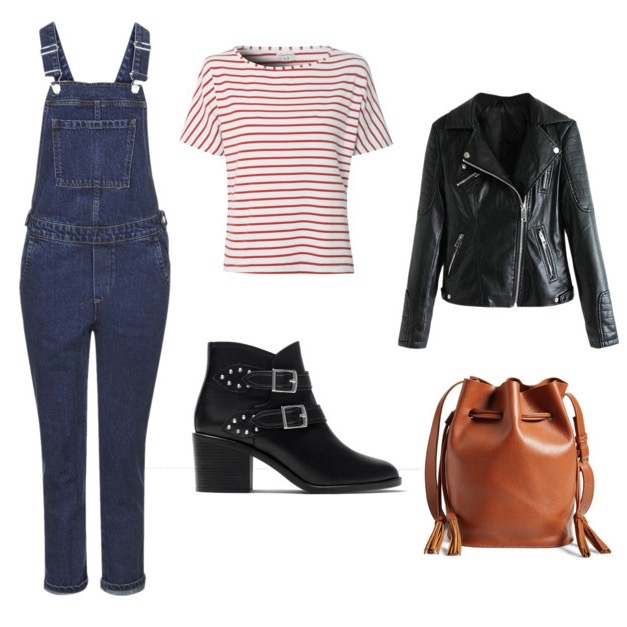 How to wear dark wash overalls french girl style