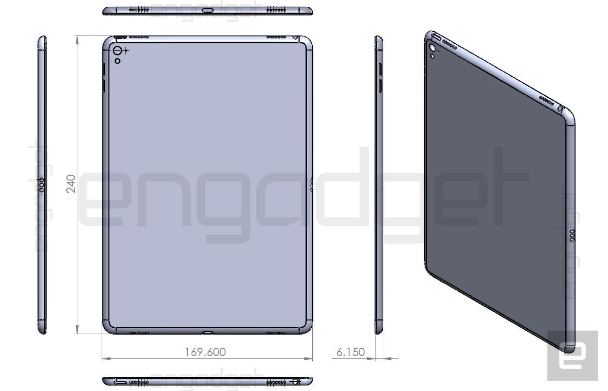 iPad Air 3 drawing hints at a smaller iPad Pro