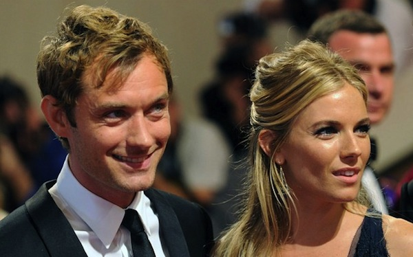 jude law sienna miller, jude law cheats with nanny
