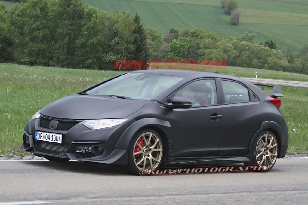 2014, 2015, debüt, featured, fotos, Honda Civic, Honda Civic Type R, Honda Civic Type R 2015, premiere, reveiled, video, VTEC, VTEV Turbo, Erlkönig, Spy s