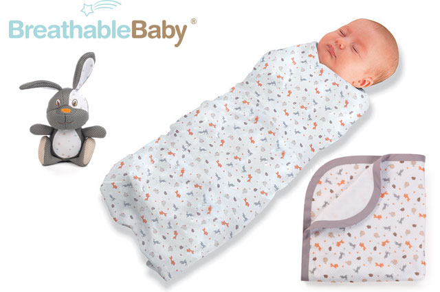 WIN a BreathableBaby swaddling set worth £50