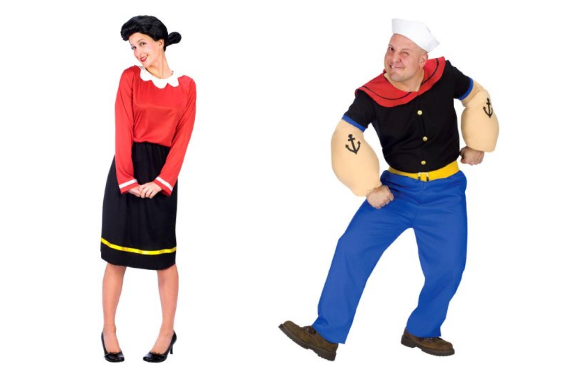 Popeye and Olive Oyl Halloween Costumes