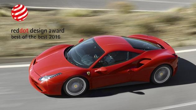 フェラーリ「488 GTB」、優れたプロダクト・デザインに与えられる「レッドドット」の最高賞を獲得