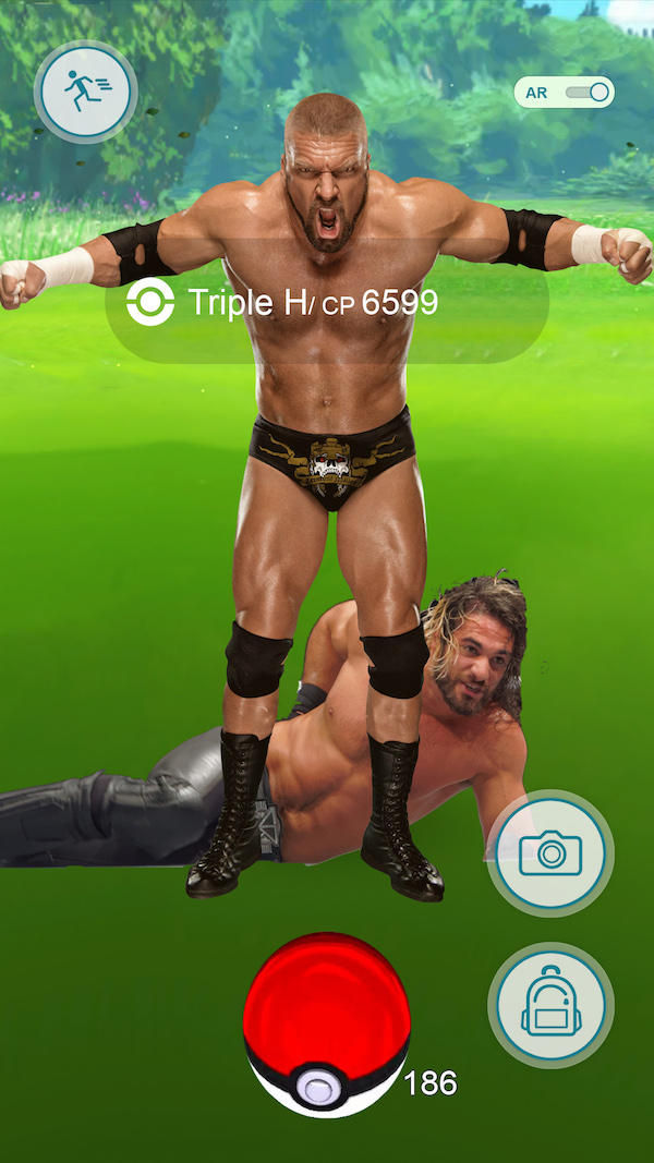 wwe pokemon go, seth rollins triple h