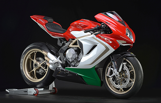 MV Agusta F3 800 AGO, front three-quarter view.