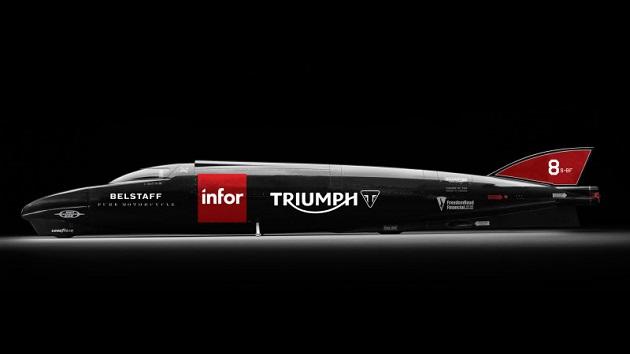 トライアンフとガイ・マーティン、ボンネビルで2輪の最速記録更新に挑戦 目標は400mph(約644km/h)超え!