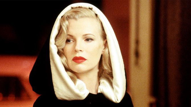 L.A. Confidential<br /> Kim Basinger as a call girl made up to look like movie star Veronica Lake. Courtesy Warner Bros.<br />