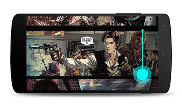 Google Play Books is more comic friendly thanks to vertical scrolling