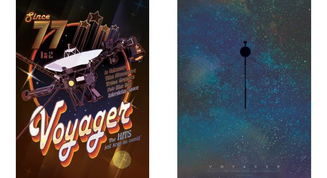 Querrás empapelar tu casa con estos pósteres de las sondas Voyager de 1977
