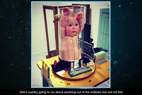 赤ちゃん用のレントゲン機がシュールすぎるwwwと話題に【動画】