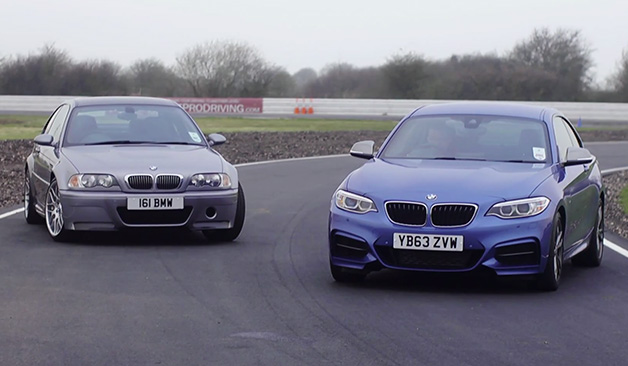 BMW M235i paired with BMW M3 CSL