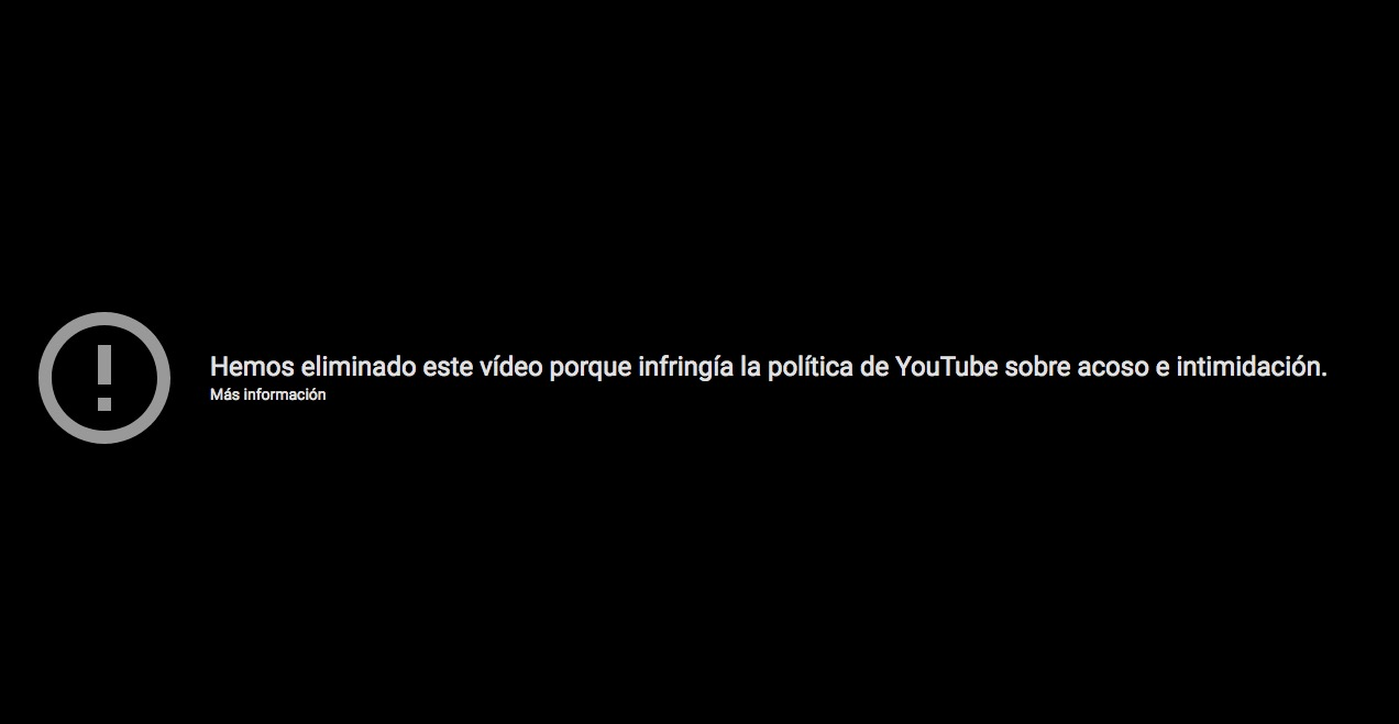 youtube eliminado