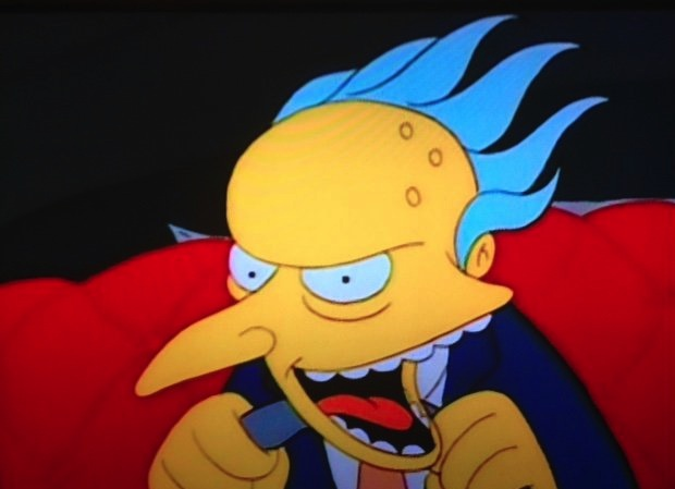 funny simpsons screenshots, hilarious simpsons freeze frames, mr burns