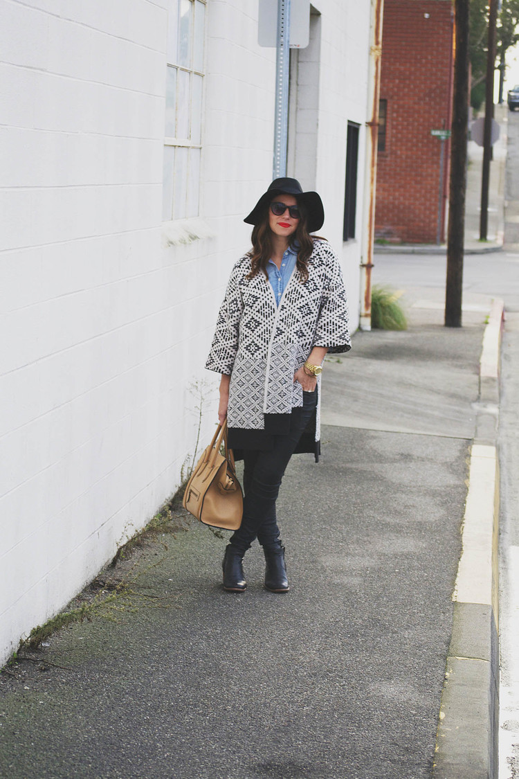 Street style tip of the day: The sweater coat