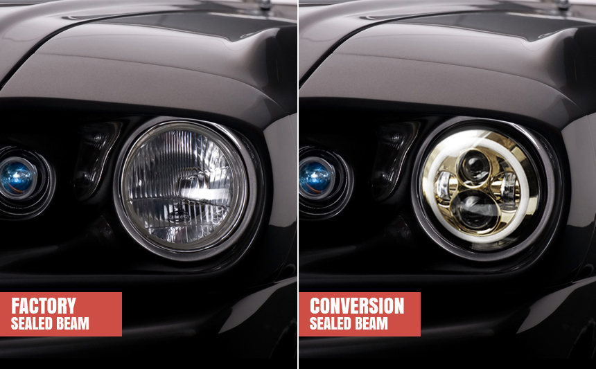 A Guide To Conversions For Sealed Beam Headlights Autoblog