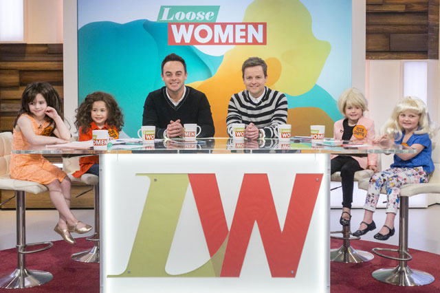 Ant and Dec under fire for kids' 'bum and boobs' questions on Loose Women sketch