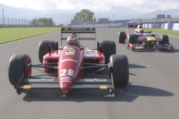 【ビデオ】夢の共演! ベッテルとベルガーが新旧F1マシンを交換しレッドブル・リンクを走行