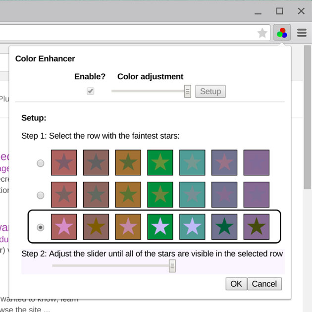 Google's Color Enhancer extension for Chrome