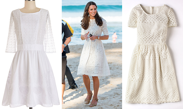 Get the look: Duchess Kate's gorgeous eyelet dress