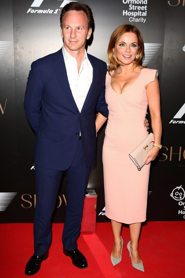 Geri Halliwell and fiance Christian Horner