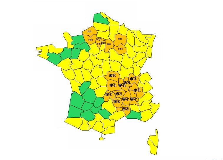 Il va neiger à nouveau vendredi en Ile-de-France — Météo