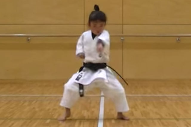 Girl, 7, is shows of black belt karate skills (video)