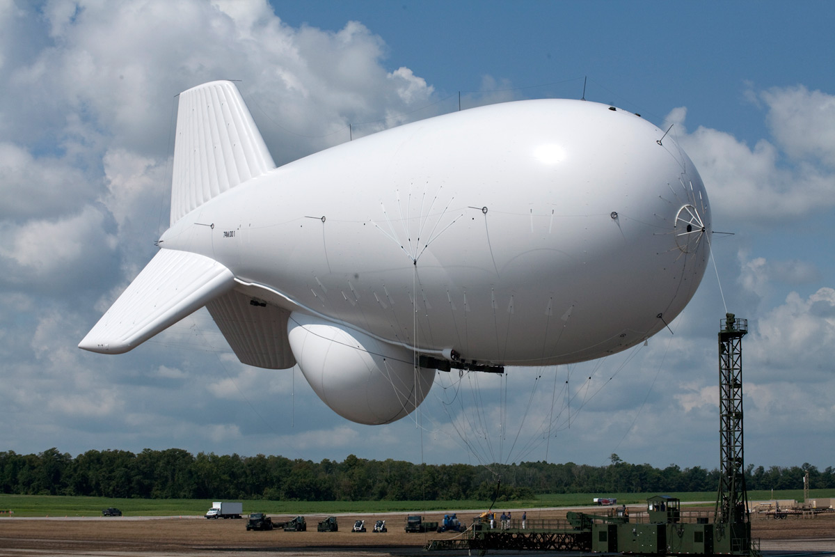 The US Army lost control of a radar blimp
