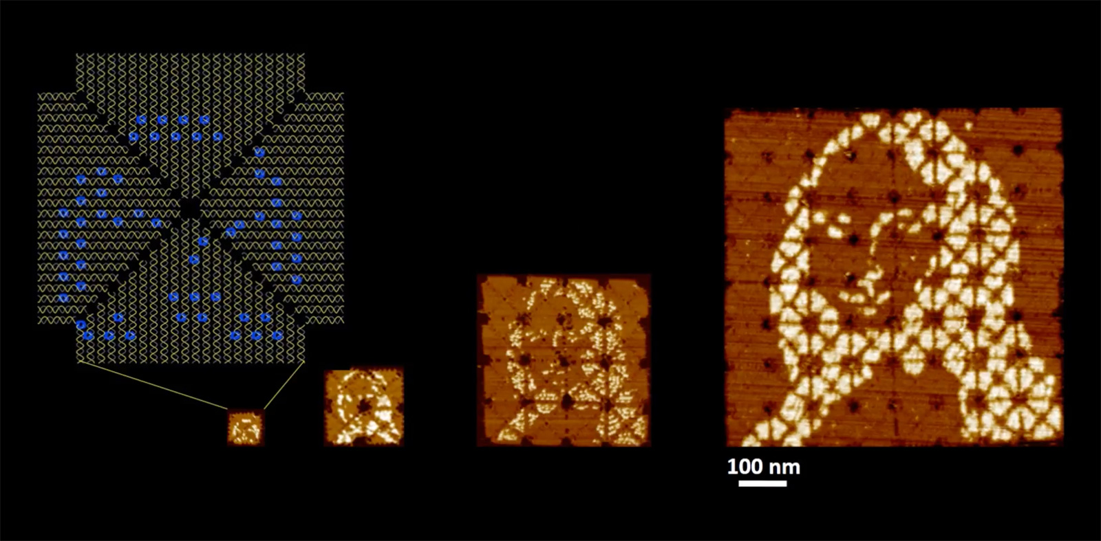 photo image The world's smallest Mona Lisa is made from DNA