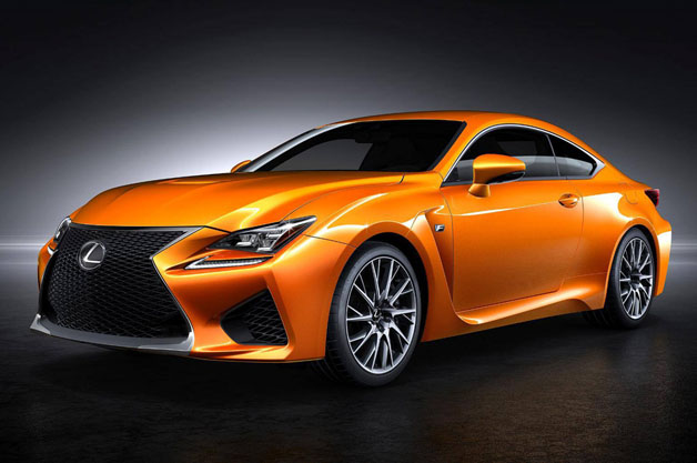 2015 Lexus RC F in an unnamed hue of orange