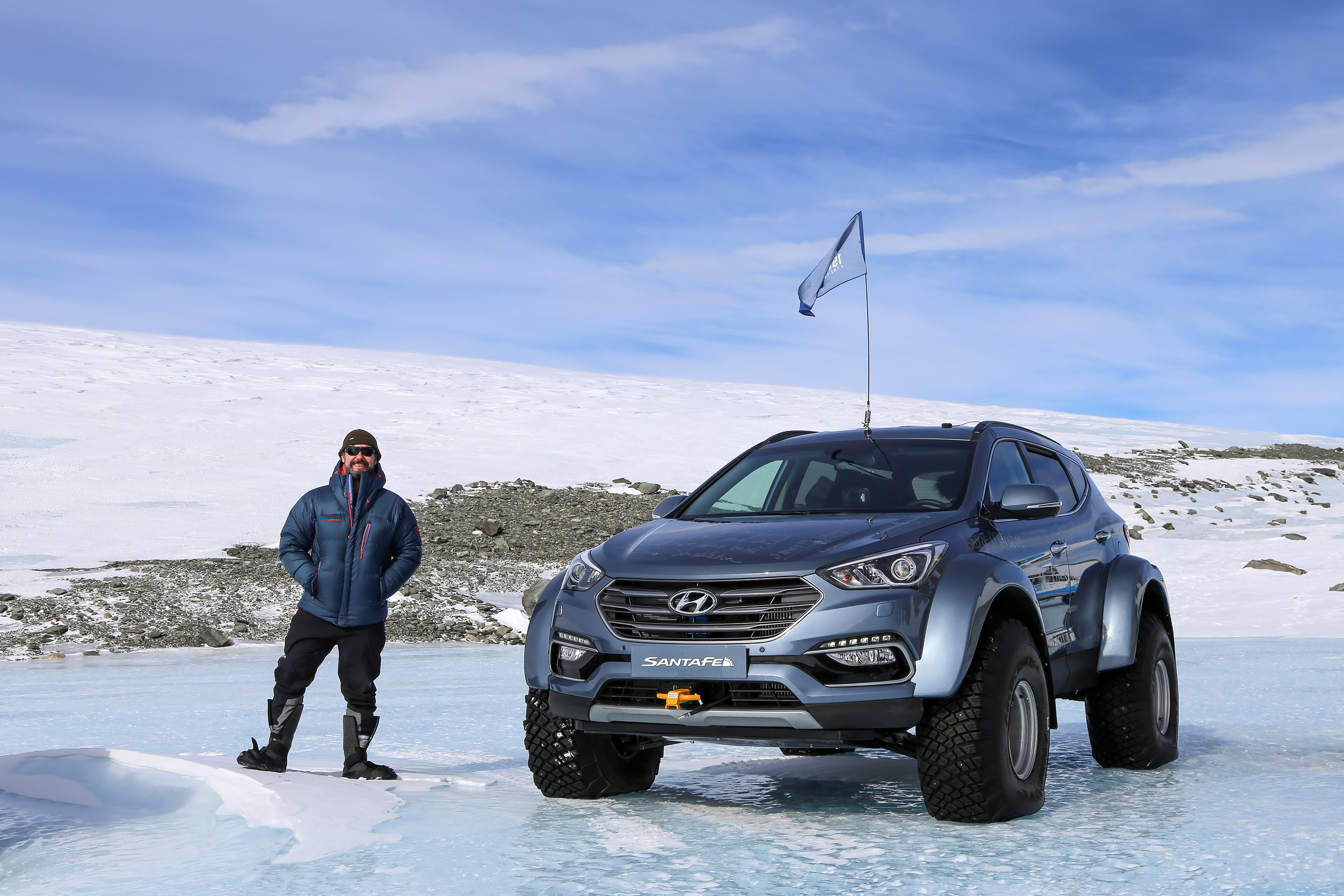 Explorer Ernest Shackleton's great grandson drives car across Antarctic