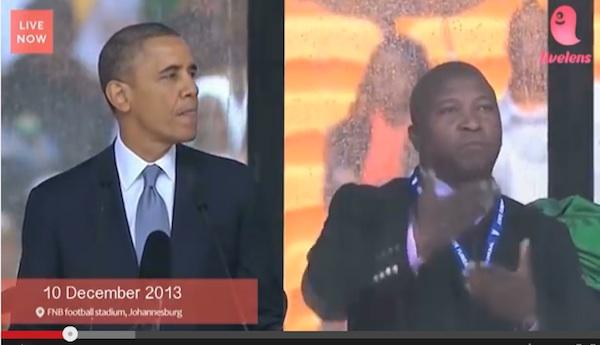 故マンデラ元大統領追悼式の「でたらめ手話通訳男」がCM出演、物議を醸す