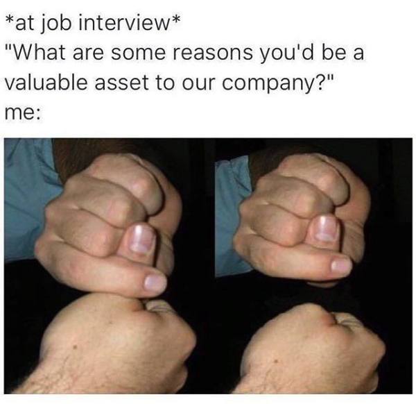 make you an asset to this company meme, asset to this company meme thumb trick