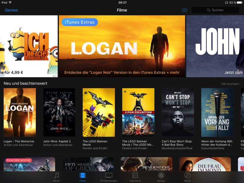 iTunes: Apple verliert Marktanteile bei Leih- und Kauffilmen