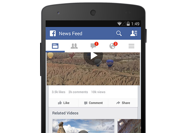 Facebook tackles YouTube with video counter, hits a billion plays per day