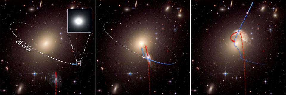 Scientists spot runaway galaxies