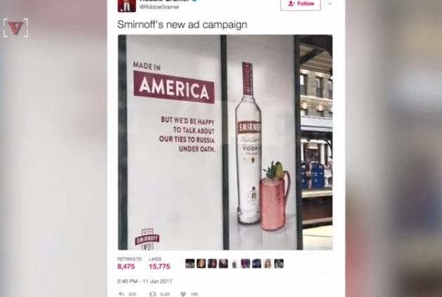 大手ウォッカブランドがトランプ大統領を最新の広告で皮肉り話題に