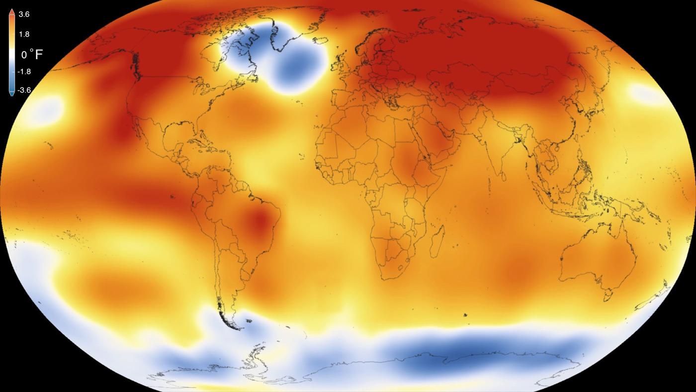 El 2015 fue el año más caluroso desde que se tienen registros
